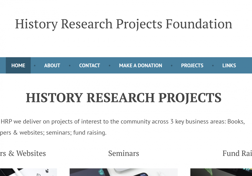 Resource of the Month – The History Research Projects Foundation